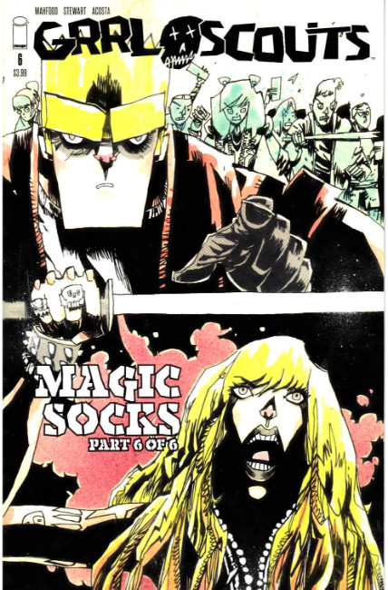 Grrl Scouts Magic Socks #6 Cover C- Walking Dead #158 Tribute Cover [Image Comic] THUMBNAIL