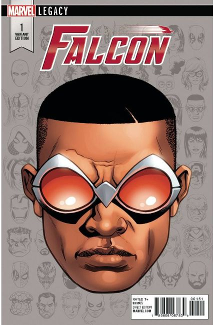 Falcon #1 McKone Legacy Headshot Variant Cover [Marvel Comic] THUMBNAIL