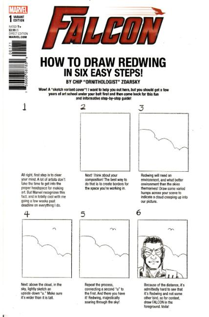 Falcon #1 Zdarsky How to Draw Variant Cover [Marvel Comic] THUMBNAIL