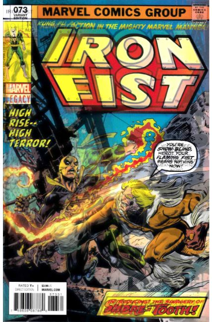 Iron Fist #73 Perkins Lenticular Variant Cover [Marvel Comic] THUMBNAIL