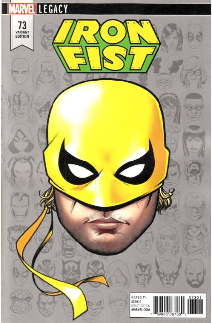 Iron Fist #73 McKone Legacy Headshot Variant Cover [Marvel Comic] THUMBNAIL