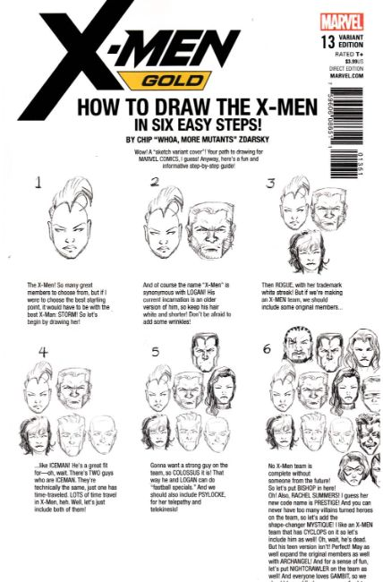 X-Men Gold #13 Zdarsky How to Draw Variant Cover [Marvel Comic]