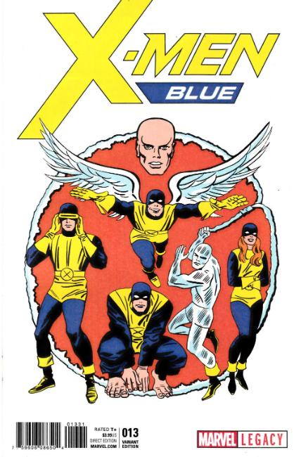 X-Men Blue #13 Kirby 1965 T-Shirt Variant Cover [Marvel Comic]_THUMBNAIL