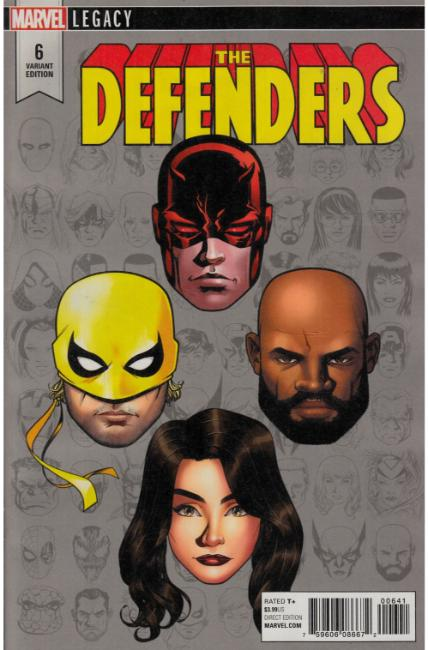 Defenders #6 McKone Legacy Headshot Variant Cover [Marvel Comic] LARGE