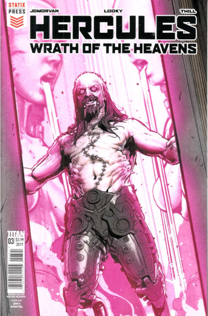 Hercules Wrath of the Heavens #3 Cover B [Titan Comic]
