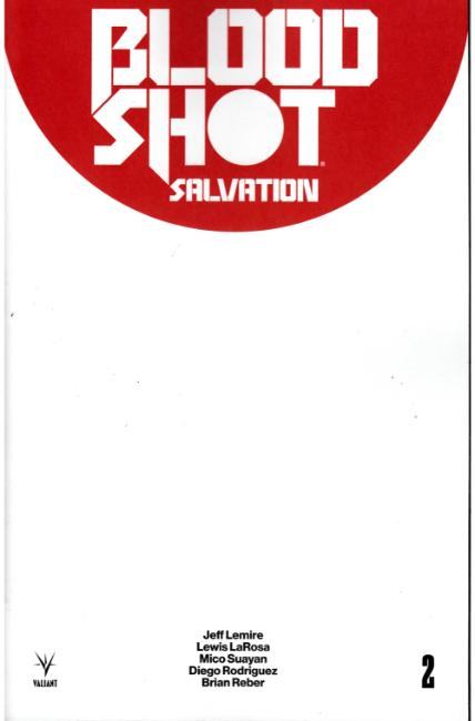 Bloodshot Salvation #2 Cover D- Blank [Valiant Comic] THUMBNAIL