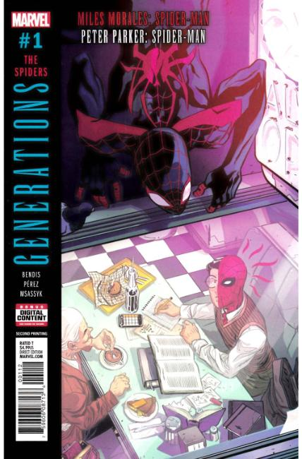 Generations Morales & Parker Spider-Man #1 Second Printing [Marvel Comic] LARGE