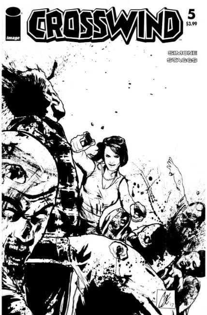 Crosswind #5 Cover D- Walking Dead #54 B&W Tribute Cover [Image Comic] THUMBNAIL