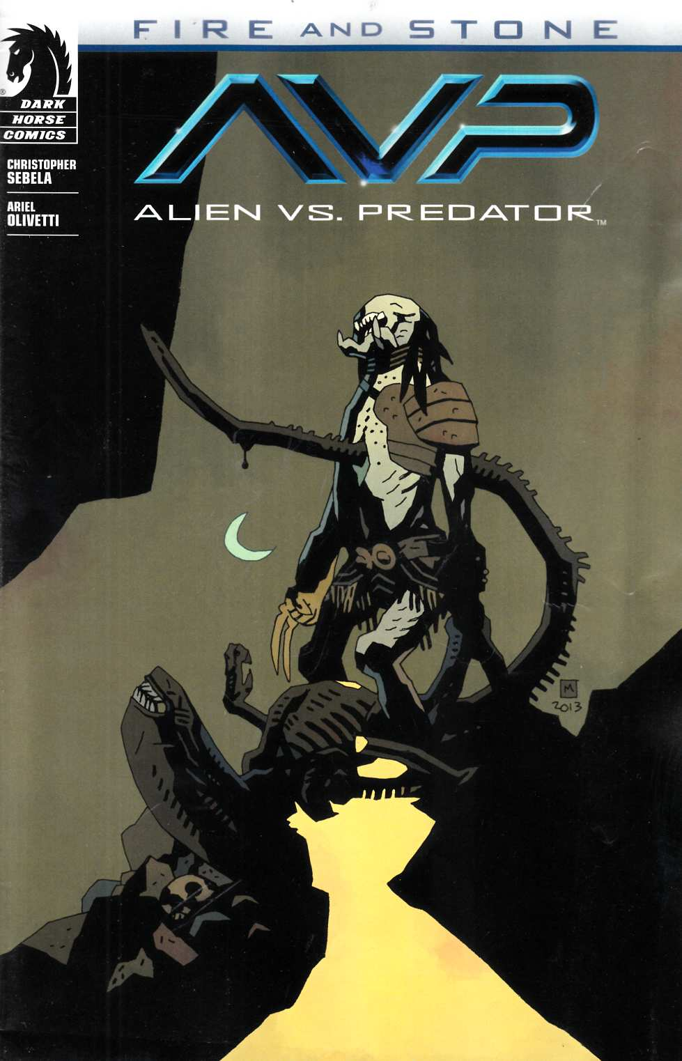 Alien vs Predator Fire and Stone #1 Mignola Variant Cover [Comic]_THUMBNAIL