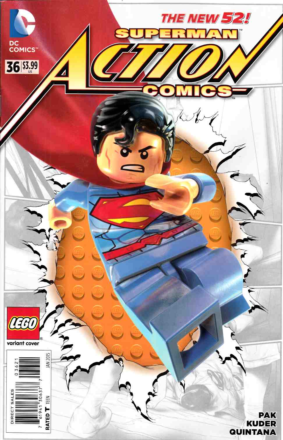Action Comics #36 Lego Variant Cover [DC Comic] LARGE