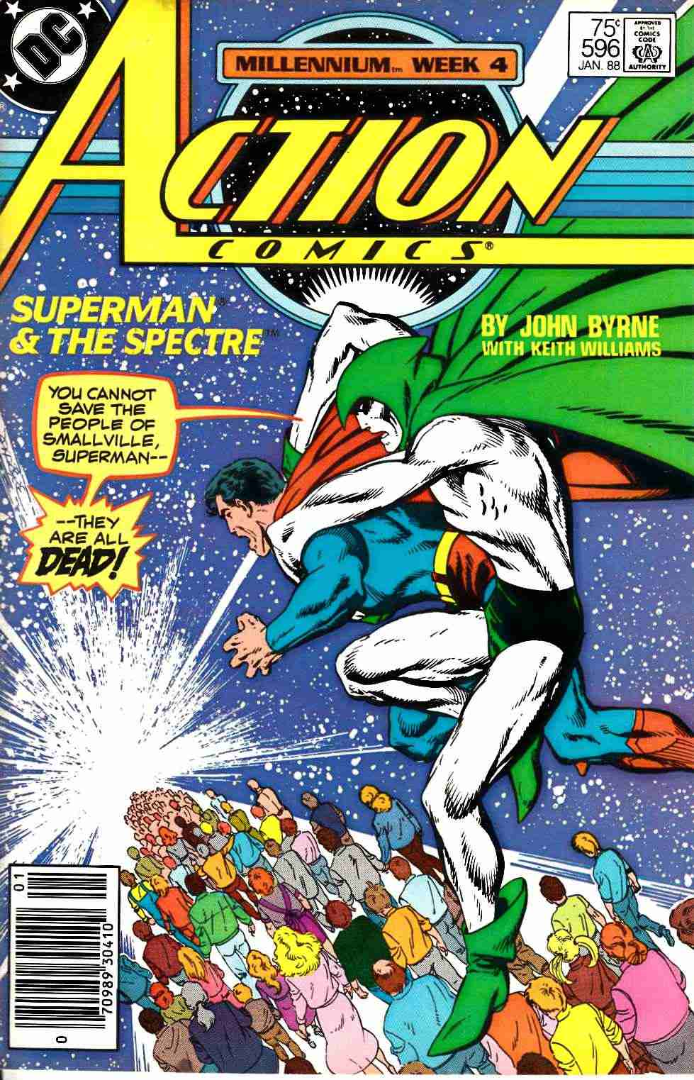 Action Comics #596 Newsstand Edition Fine (6.0) [DC Comic] LARGE