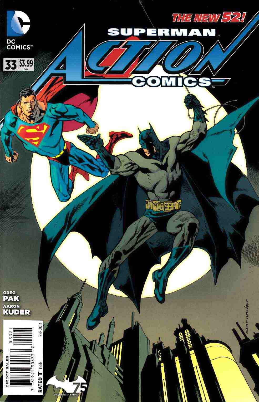Action Comics #33 Batman 75th Variant Cover (Doomed) [Comic] LARGE