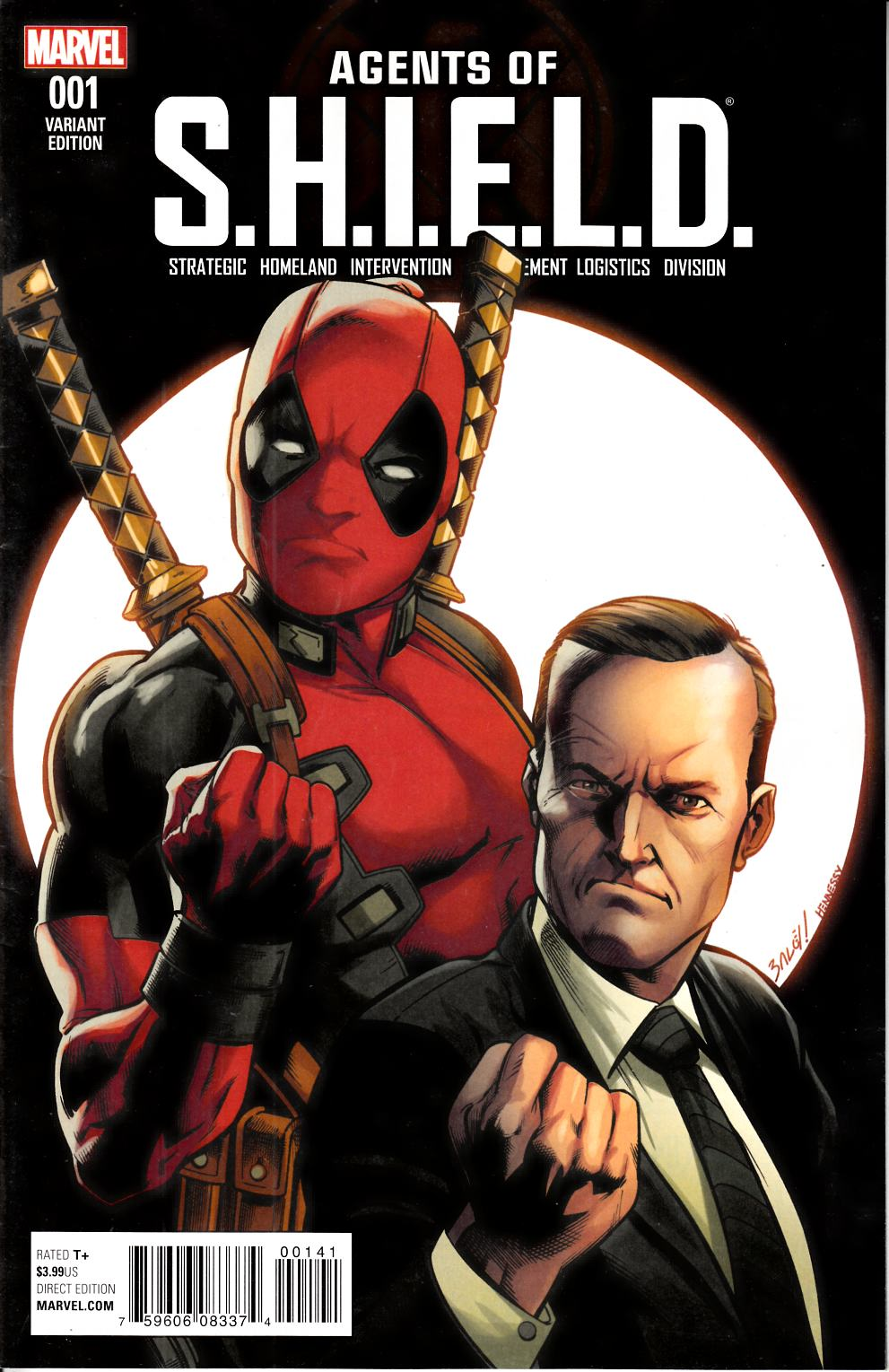 Agents of Shield #1 Bagley Deadpool Variant Cover [Marvel Comic] THUMBNAIL