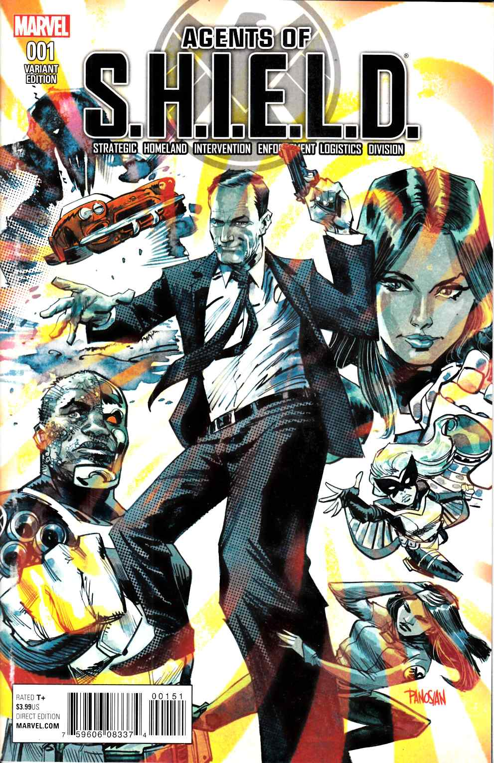 Agents of Shield #1 Panosian Variant Cover [Marvel Comic] THUMBNAIL