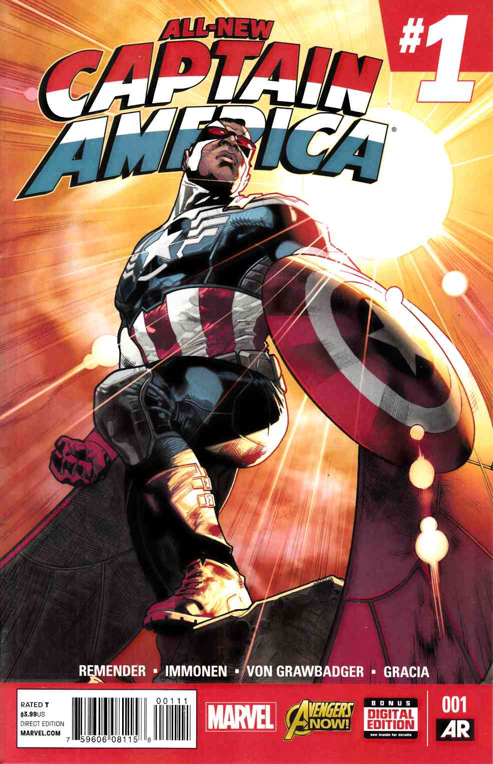 All New Captain America #1 Near Mint (9.4) [Marvel Comic]_THUMBNAIL