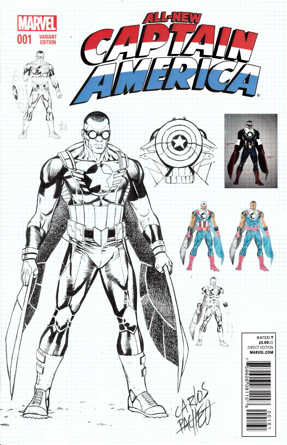 All New Captain America #1 Pacheco Variant Cover Near Mint (9.4) [Marvel Comic] THUMBNAIL