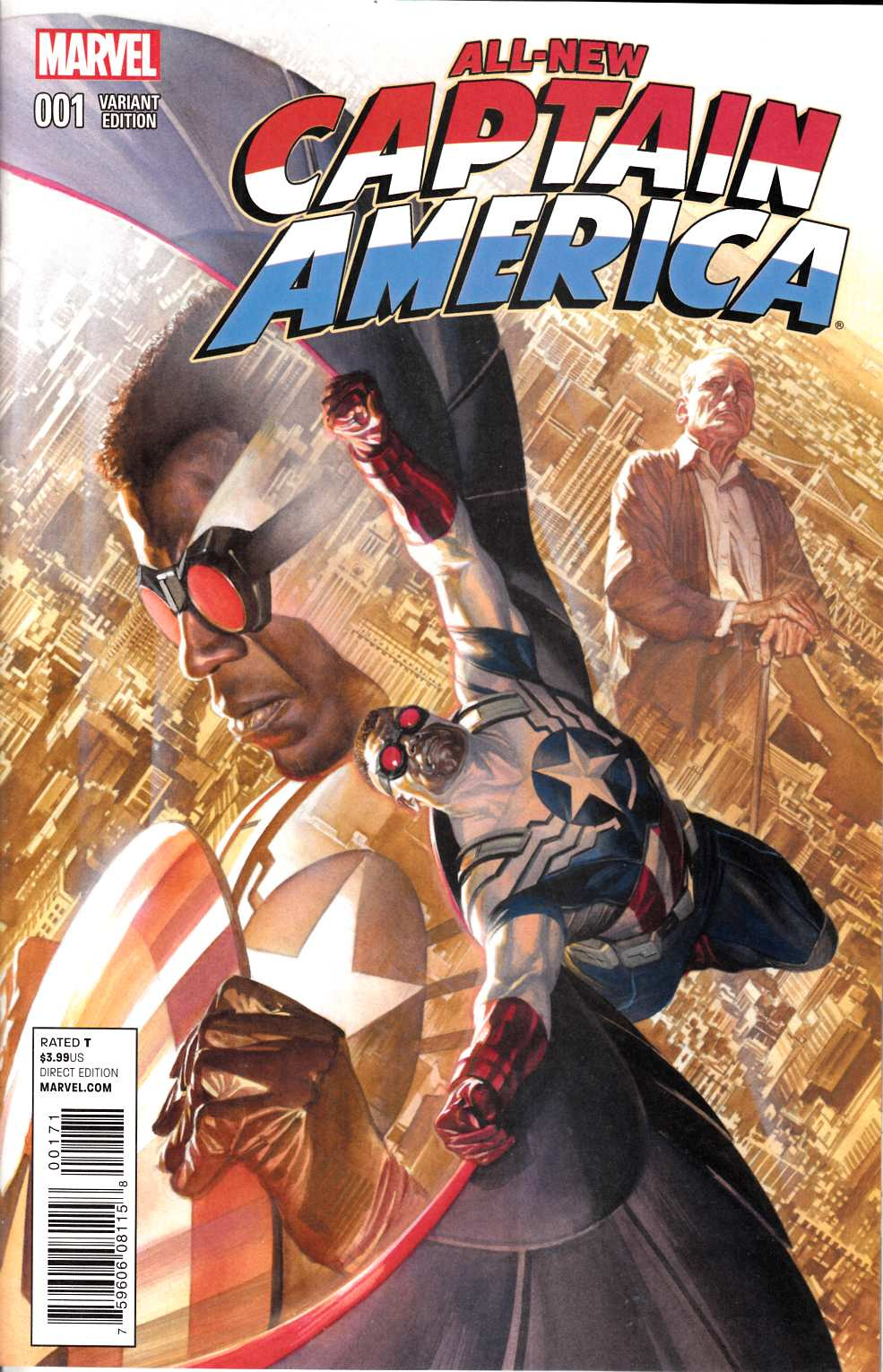 All New Captain America #1 Ross Variant Cover Near Mint (9.4) [Marvel Comic]_THUMBNAIL