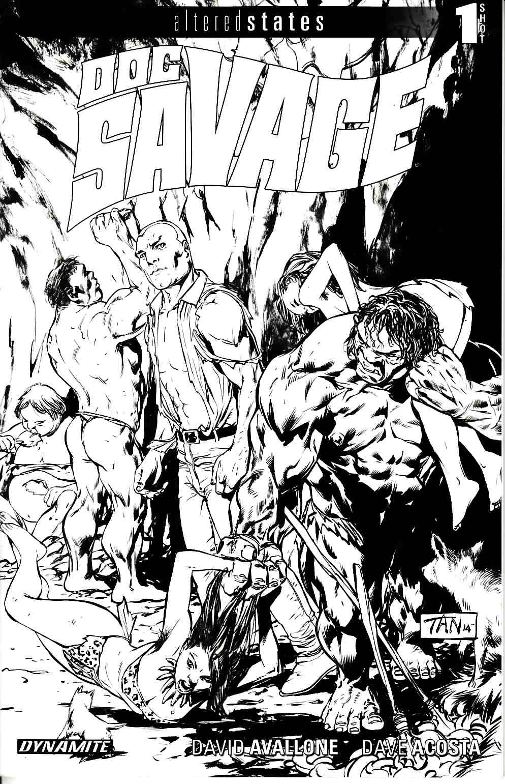 Altered States Doc Savage (One Shot) Tan B&W Incentive Cover [Dynamite Comic]_THUMBNAIL