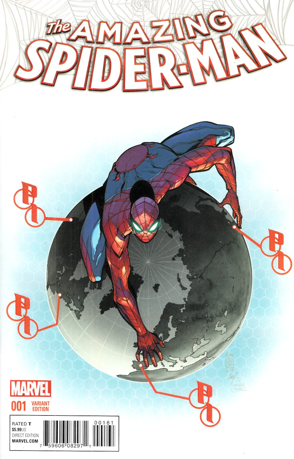 Amazing Spider-Man #1 Camuncoli Variant Cover [Marvel Comic] THUMBNAIL