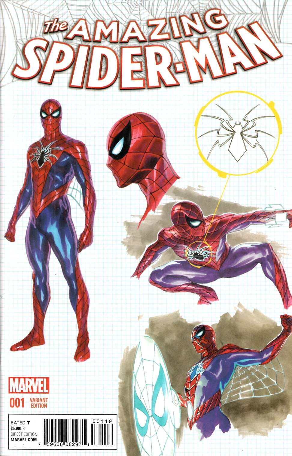 Amazing Spider-Man #1 Ross Design Variant Cover [Marvel Comic] THUMBNAIL
