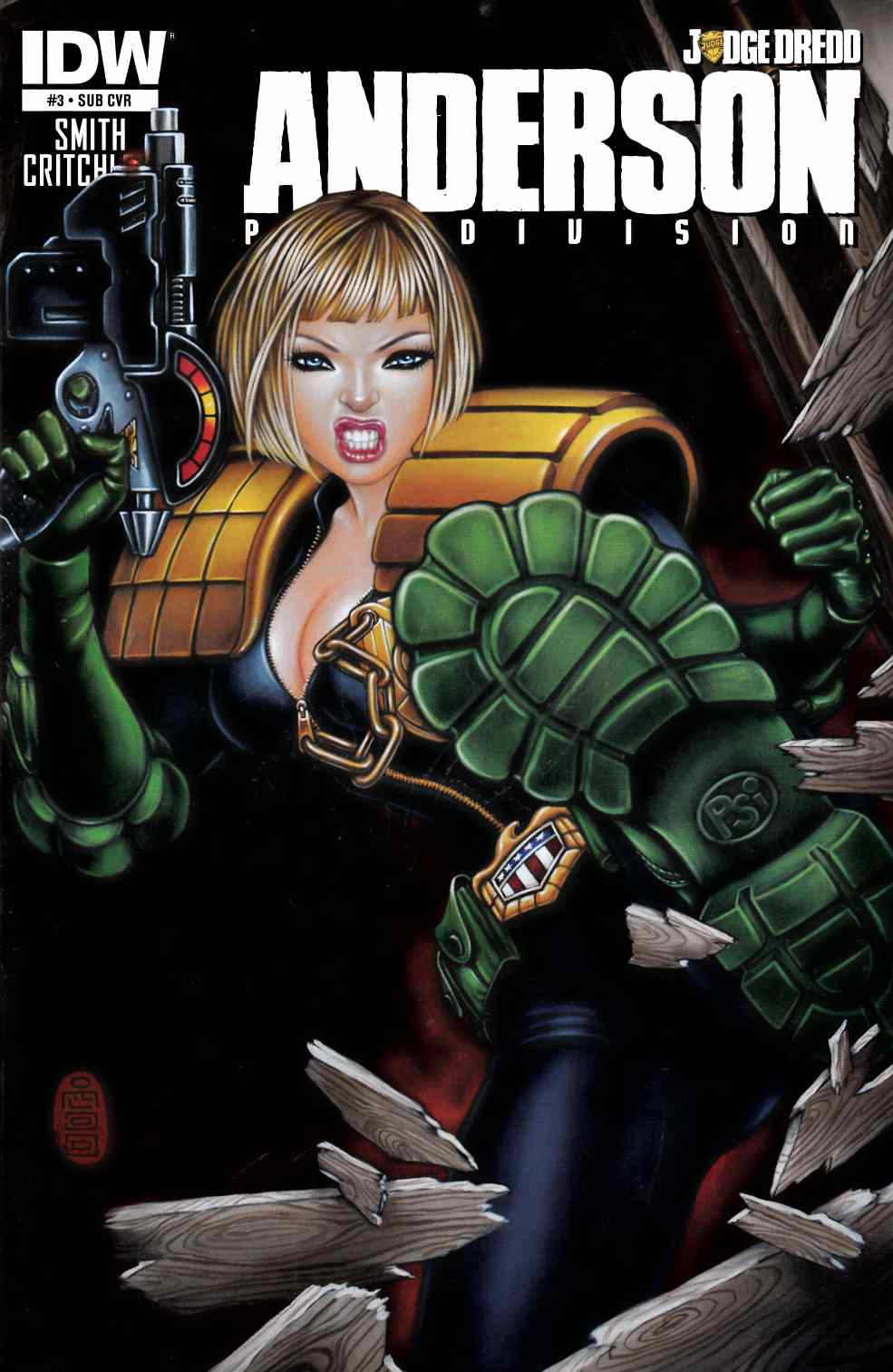 Judge Dredd Anderson PSI Division #3 Subscription Cover [IDW Comic] THUMBNAIL