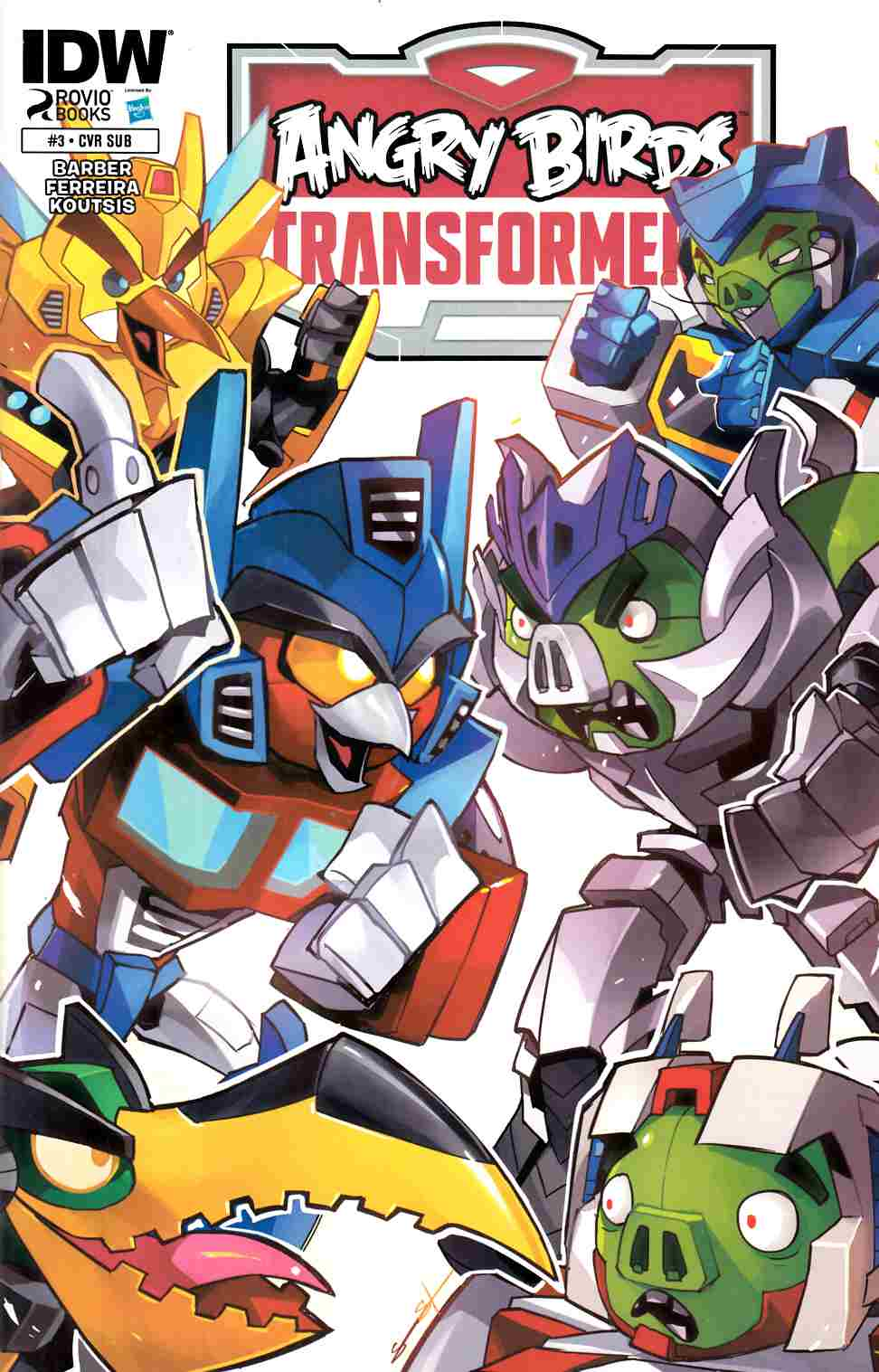 Angry Birds Transformers #3 Subscription Cover [IDW Comic] LARGE