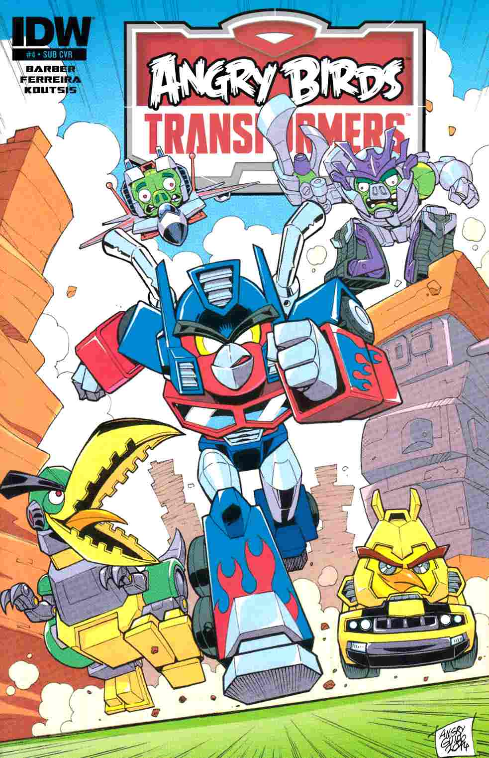 Angry Birds Transformers #4 Subscription Cover [IDW Comic]