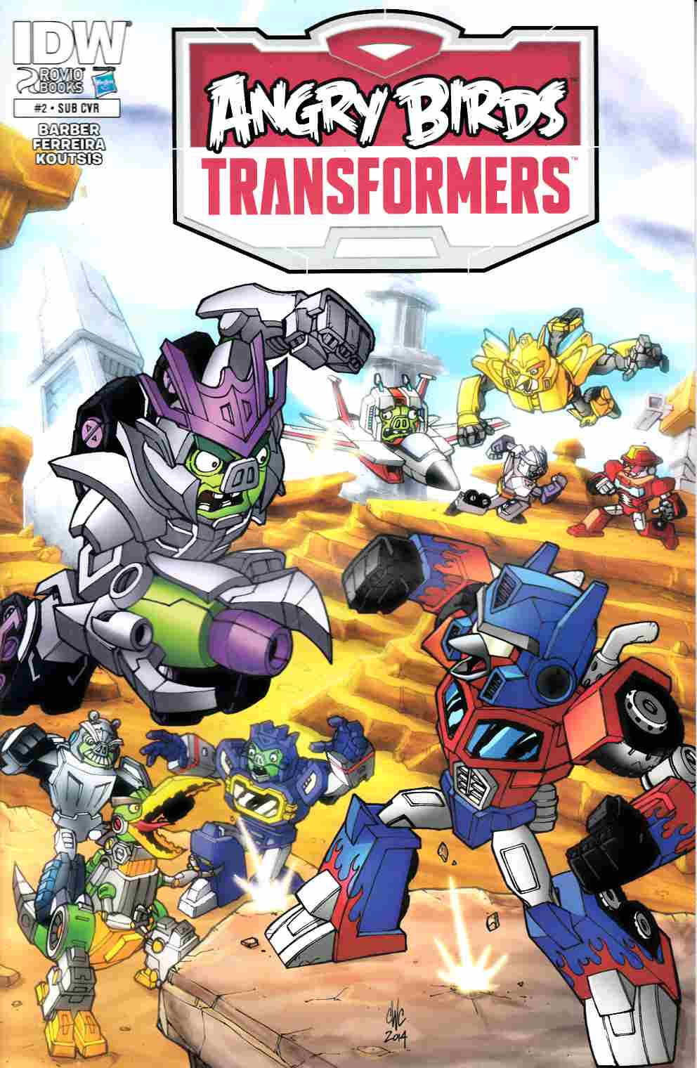 Angry Birds Transformers #2 Subscription Cover [IDW Comic]