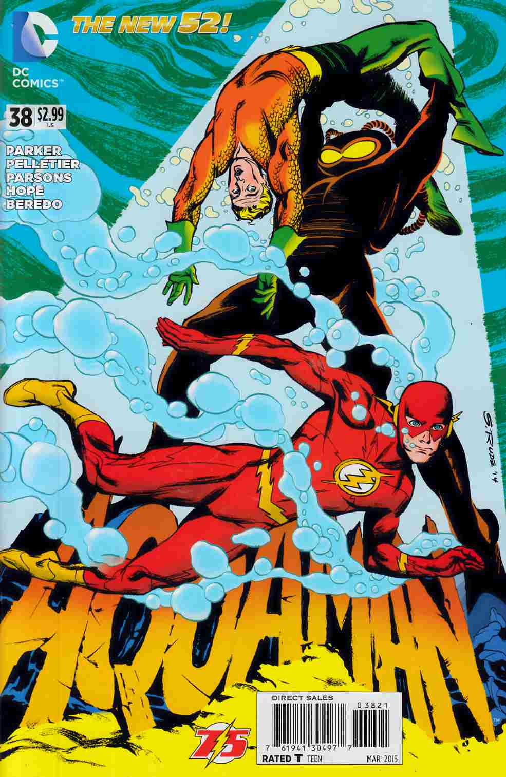 Aquaman #38 Flash 75th Variant Cover [DC Comic] THUMBNAIL