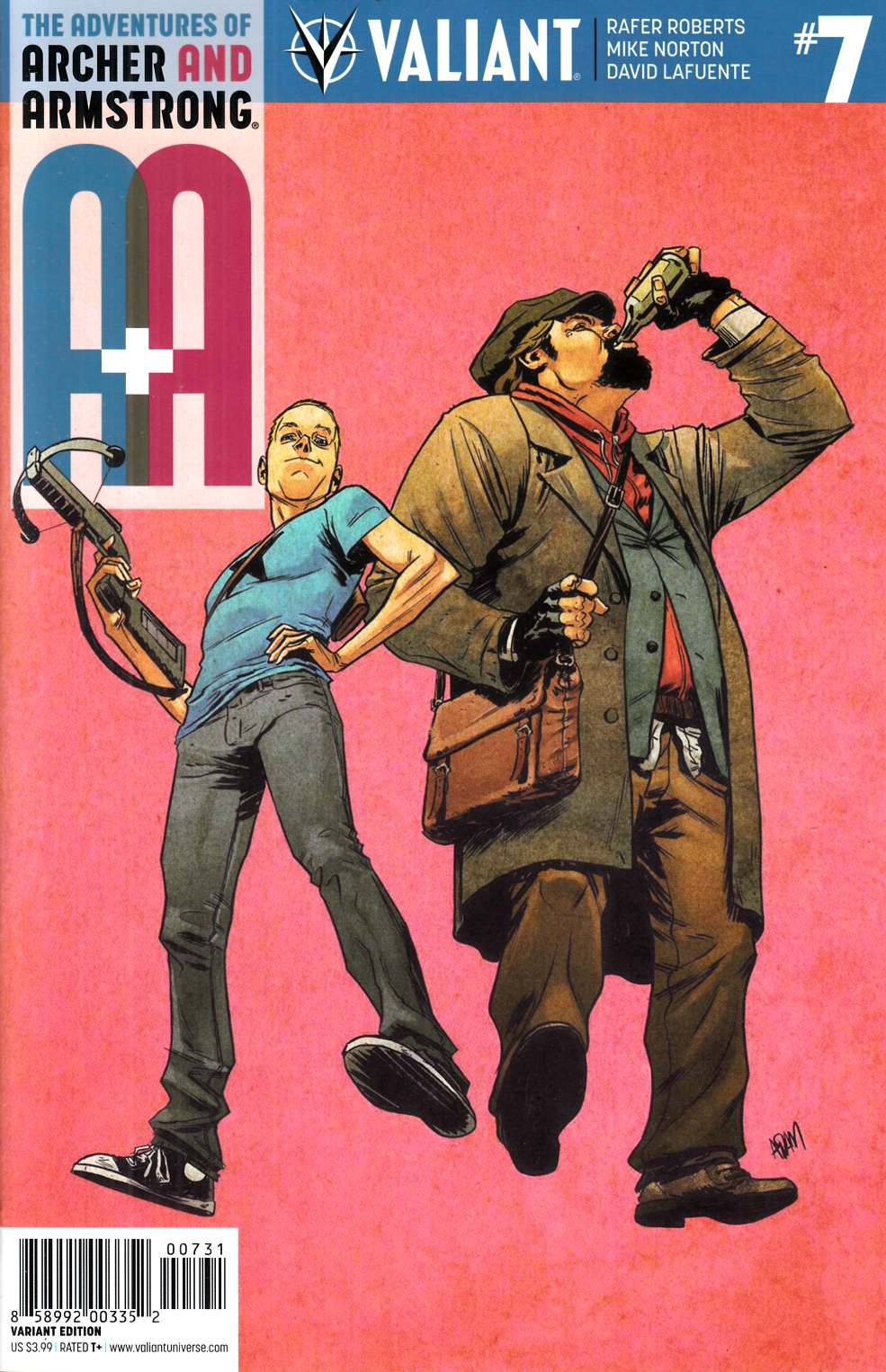 Archer & Armstrong #7 Cover C- Gorham Variant Cover [Valiant Comic] LARGE