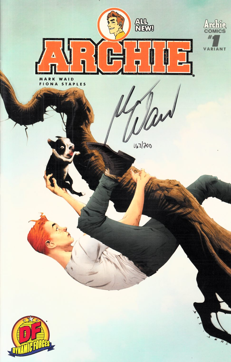 Archie #1 DF Exclusive Lee Cover Waid Signed Edition [Archie Comic] THUMBNAIL