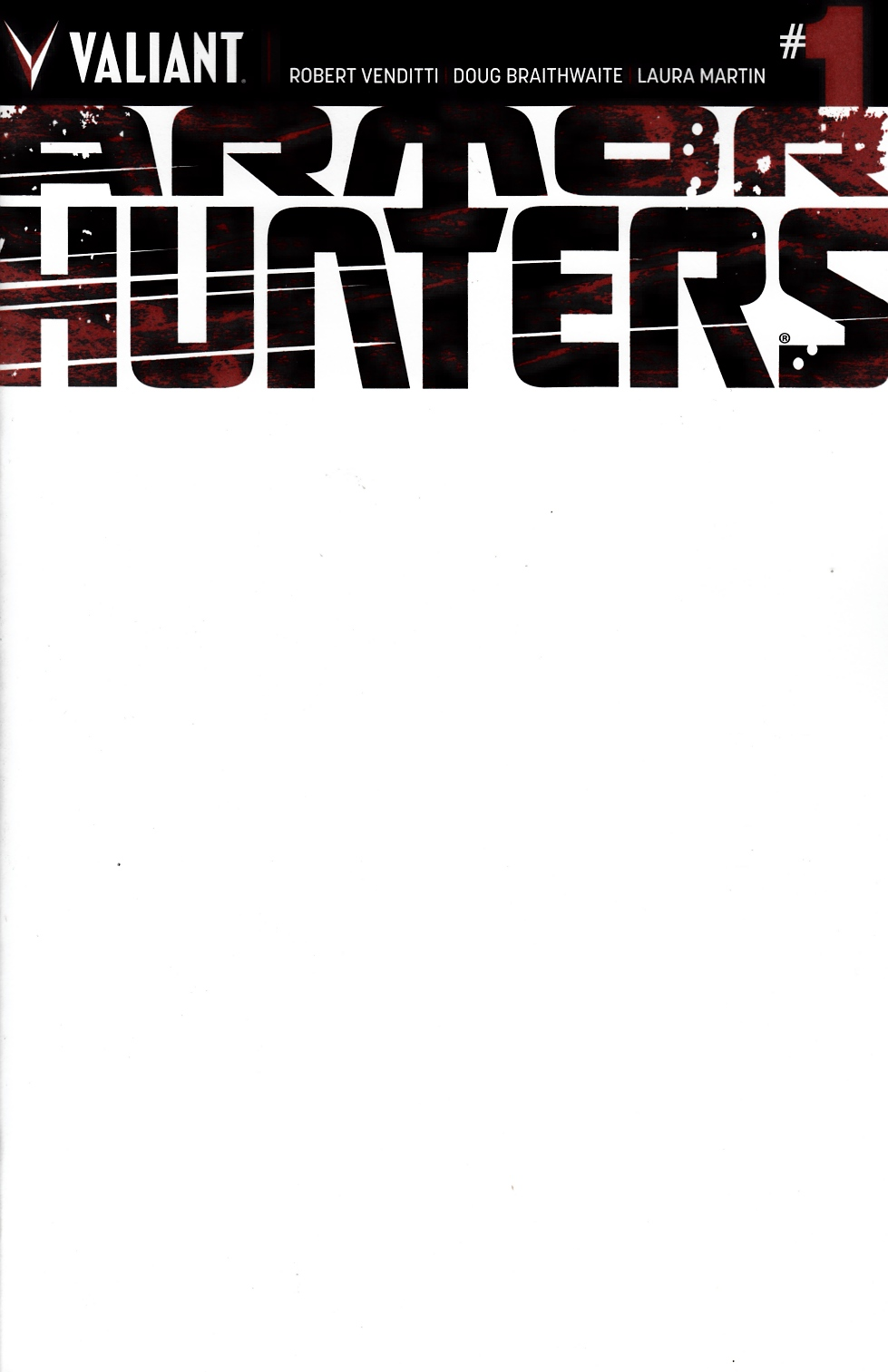 Armor Hunters #1 Blank Cover [Comic] LARGE