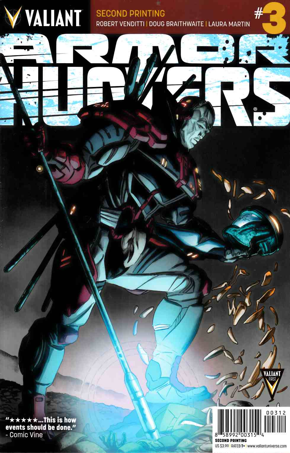 Armor Hunters #3 Second Printing [Valiant Comic] LARGE