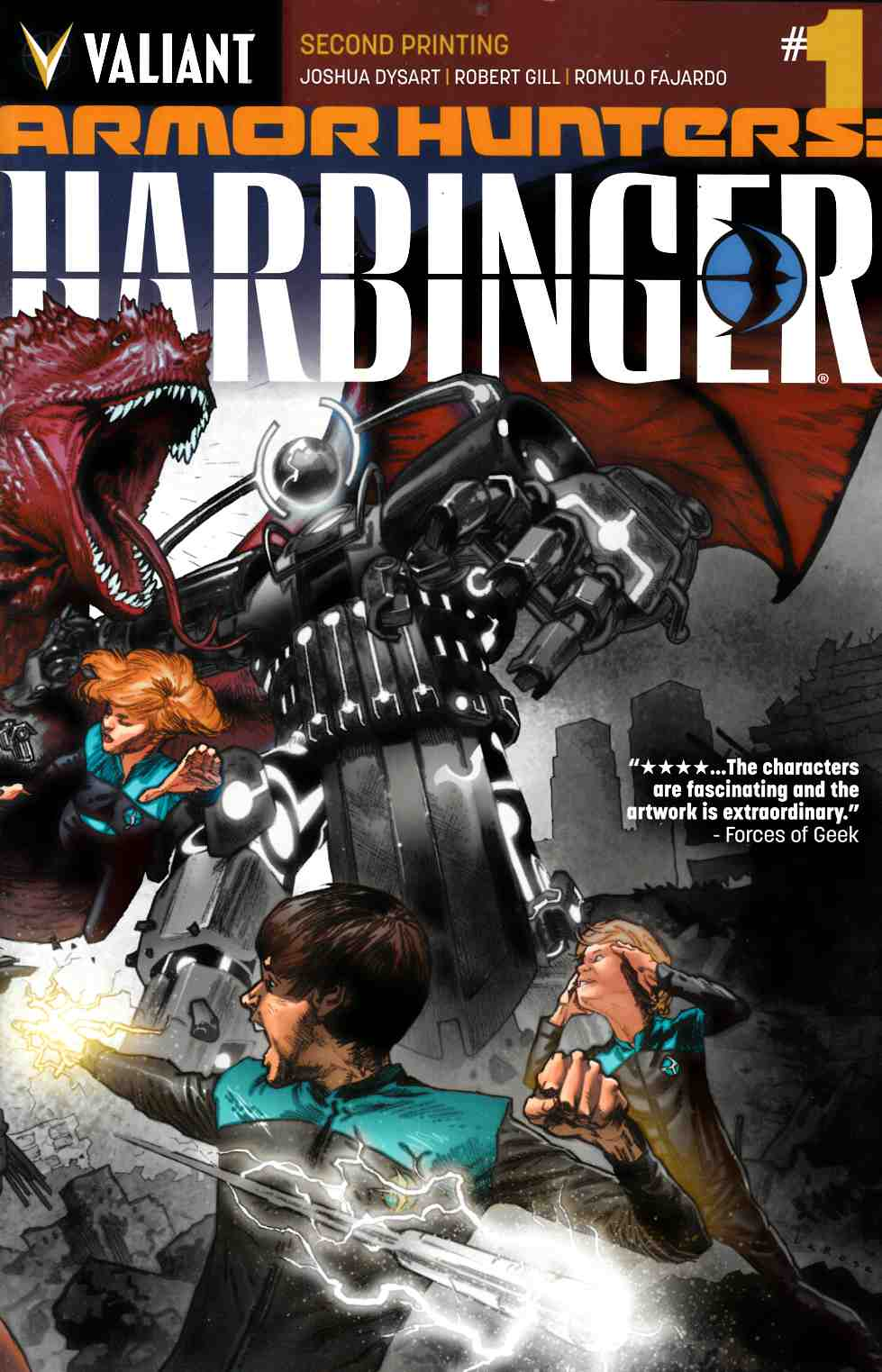 Armor Hunters Harbinger #1 Second Printing [Valiant Comic] THUMBNAIL