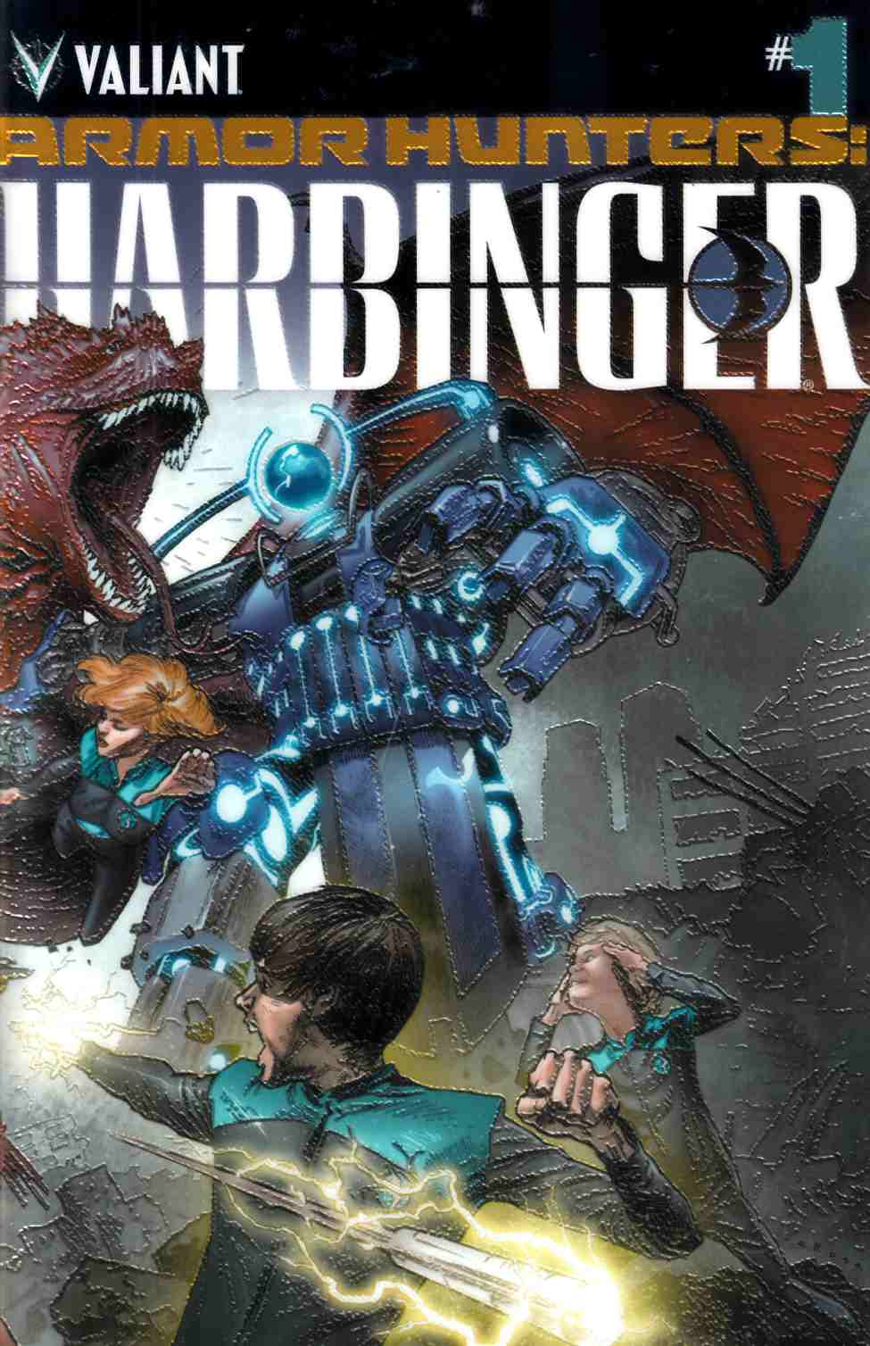 Armor Hunters Harbinger #1 Chromium Cover [Valiant Comic]