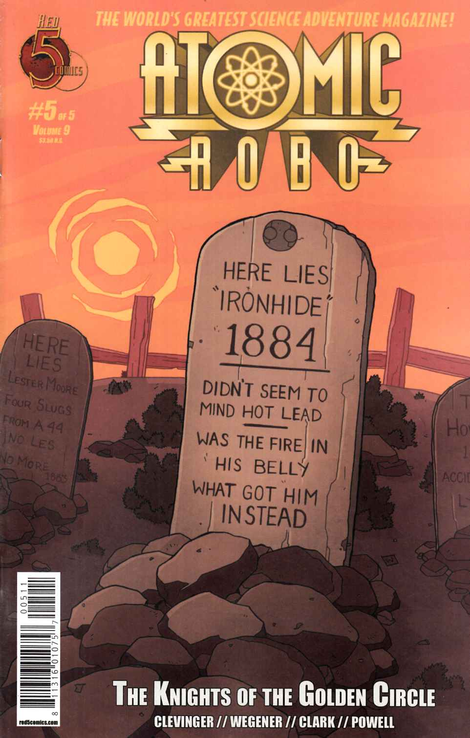 Atomic Robo Knights Of The Golden Circle #5 [Red 5 Comic] THUMBNAIL