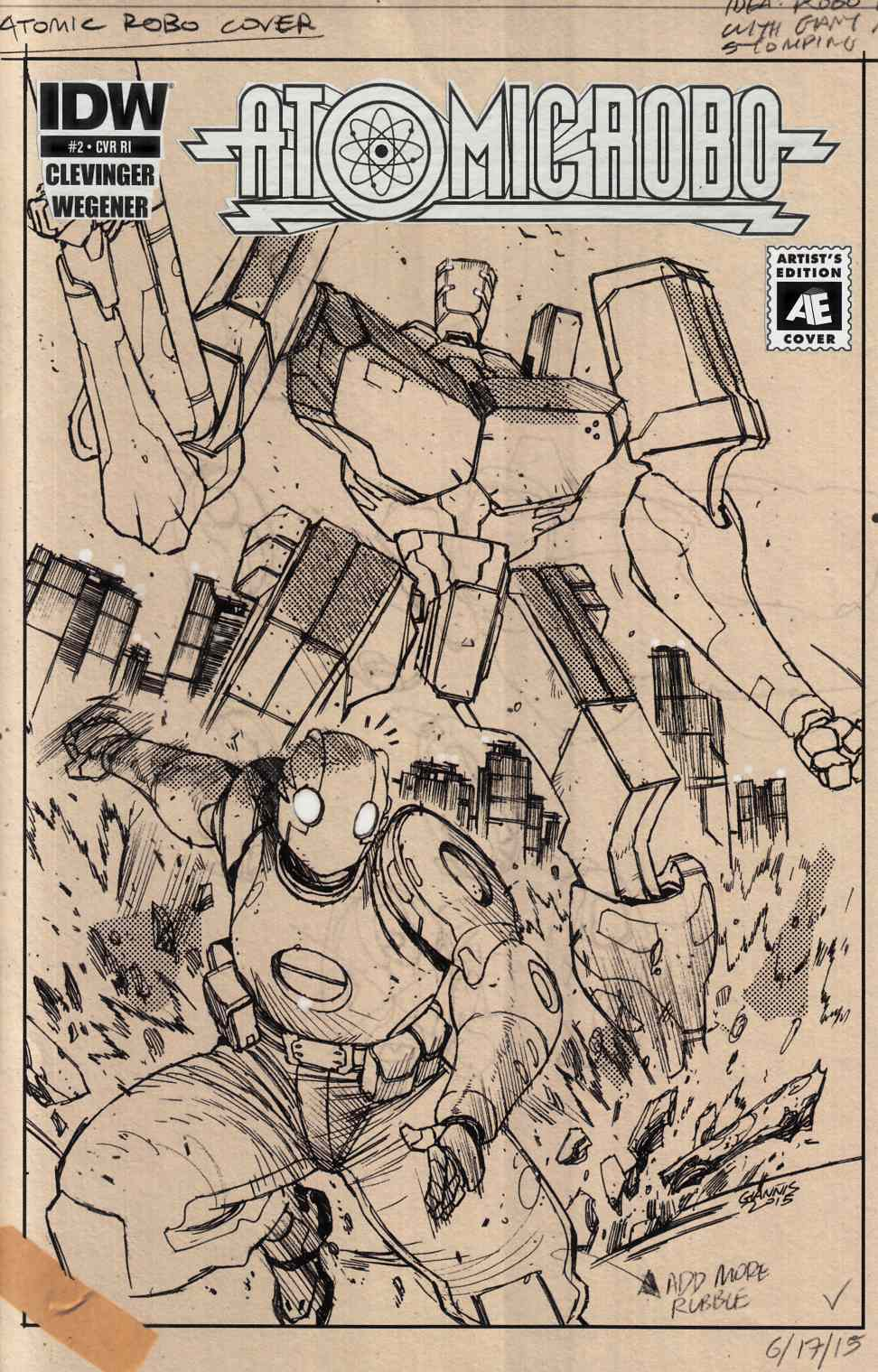 Atomic Robo & the Ring of Fire #2 Cover RI [IDW Comic] THUMBNAIL