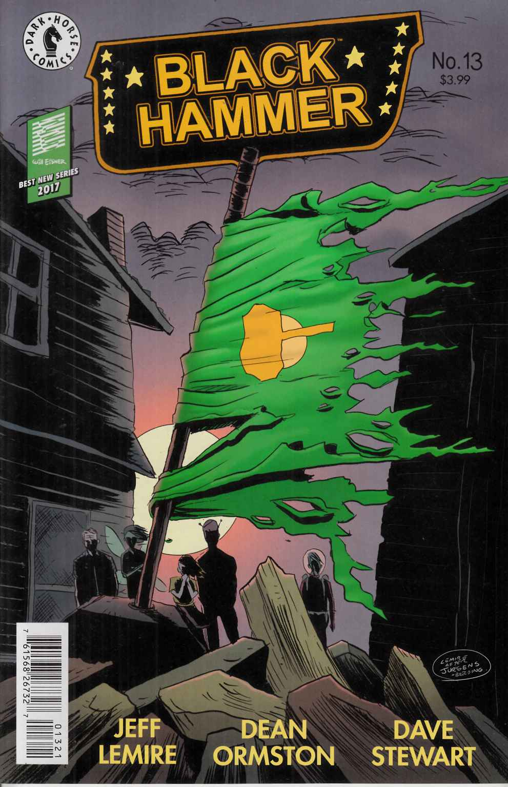 Black Hammer #13 Lemire Variant Cover Near Mint (9.4) [Dark Horse Comic] THUMBNAIL