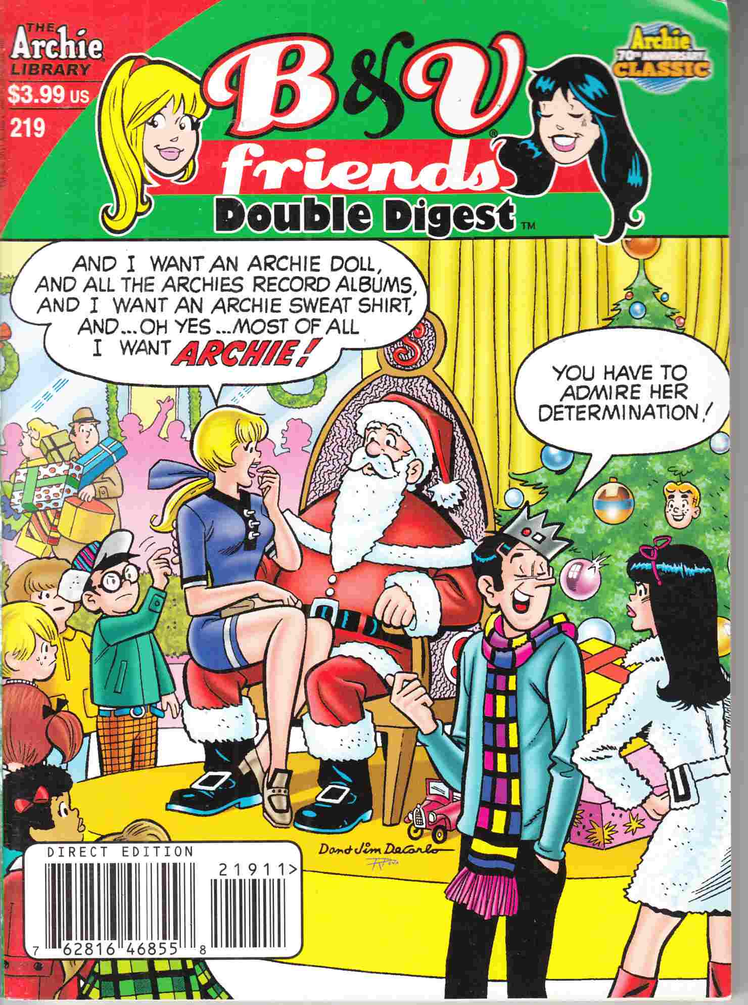 B & V Friends Double Digest #219 Fine (6.0) [Archie Comic] THUMBNAIL