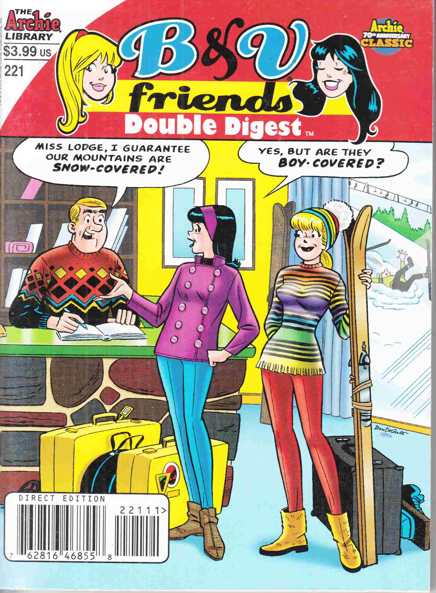 B & V Friends Double Digest #221 Near Mint Minus (9.2) [Archie Comic] THUMBNAIL