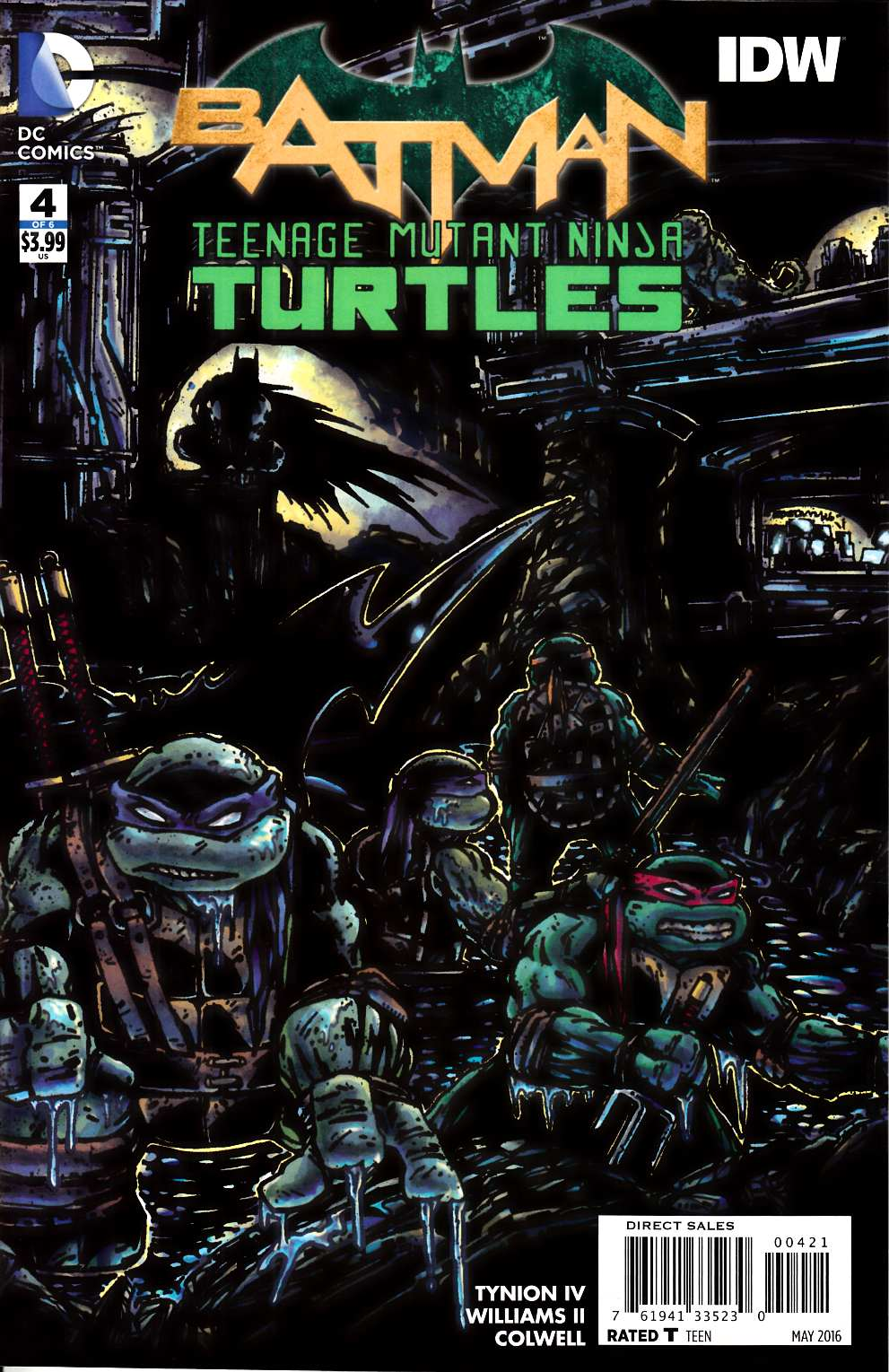 Batman Teenage Mutant Ninja Turtles #4 Eastman Variant Cover [DC Comic] THUMBNAIL