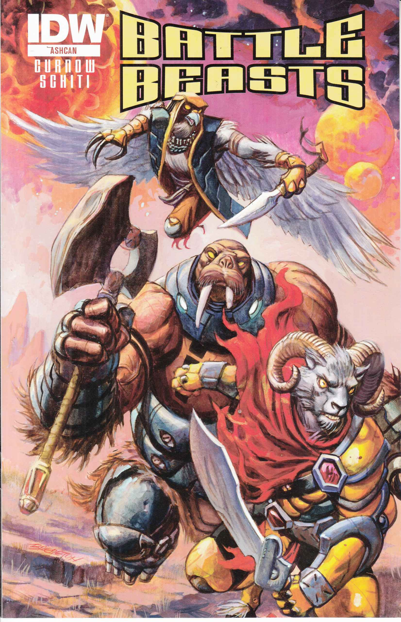 Battle Beasts Ashcan [IDW Comic]