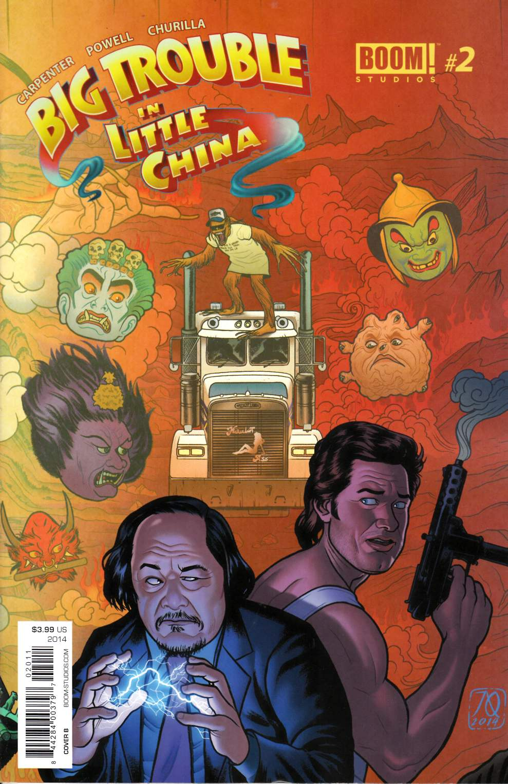 Big Trouble in Little China #2 Cover B- Quinones [Comic]