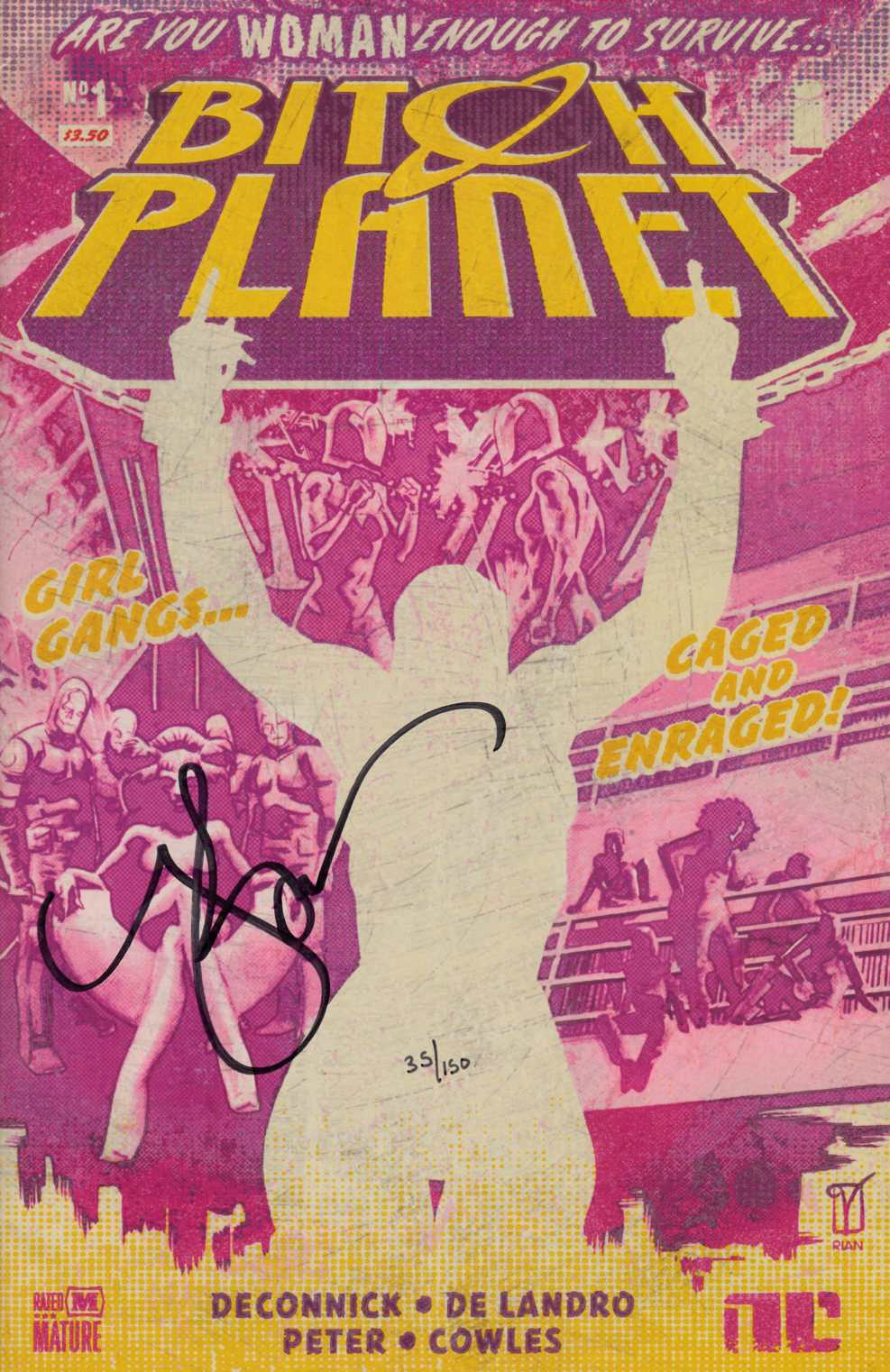Bitch Planet #1 DF Deconnick Signed Edition [Image Comic] THUMBNAIL