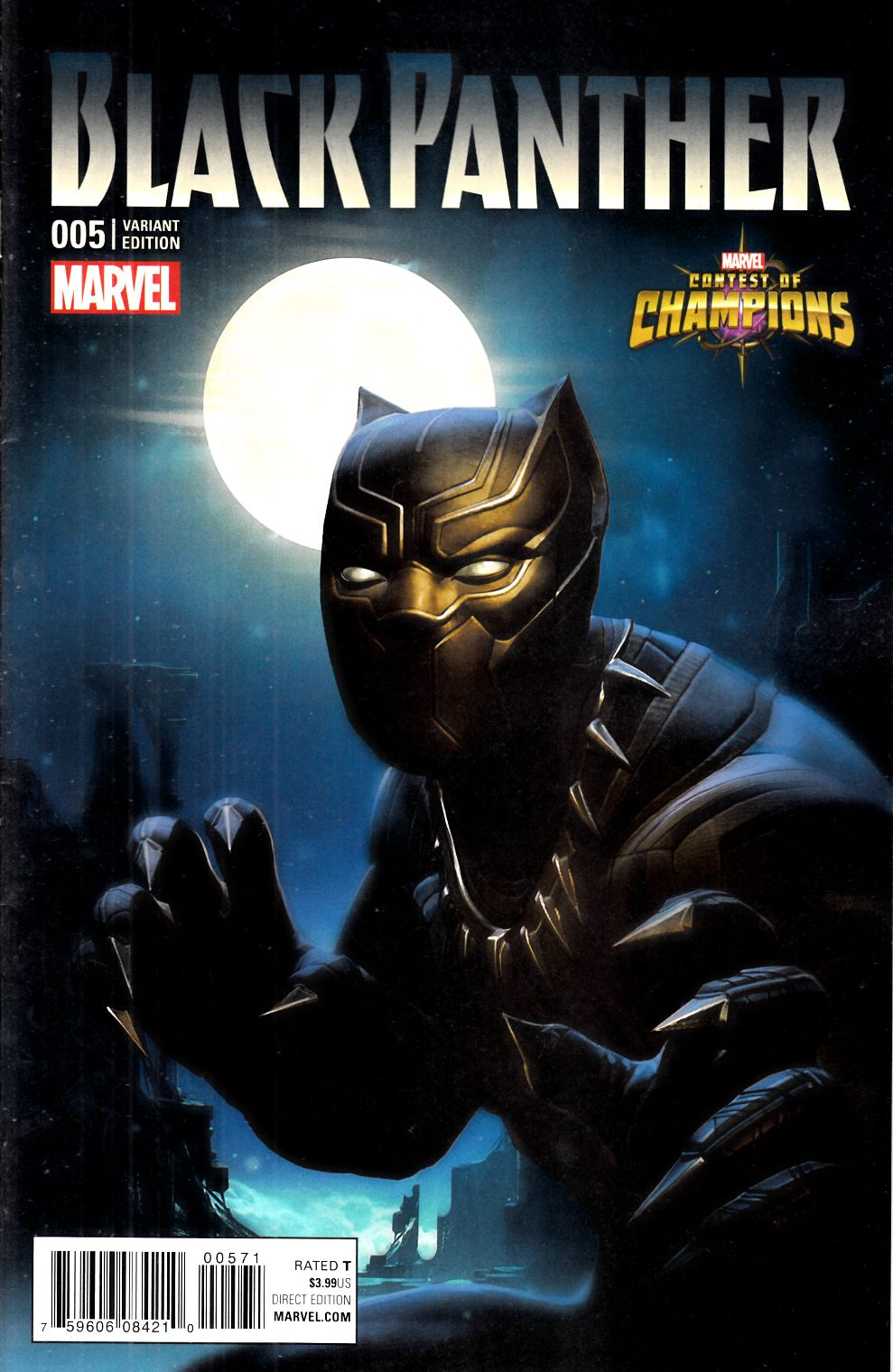 Black Panther #5 Kabam Contest of Champions Game Variant [Marvel Comic] LARGE