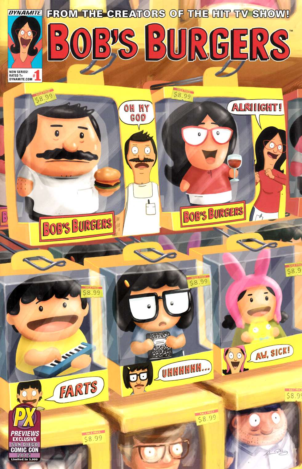 Bobs Burgers Ongoing #1 SDCC 2015 Exclusive Cover [Dynamite Comic] THUMBNAIL