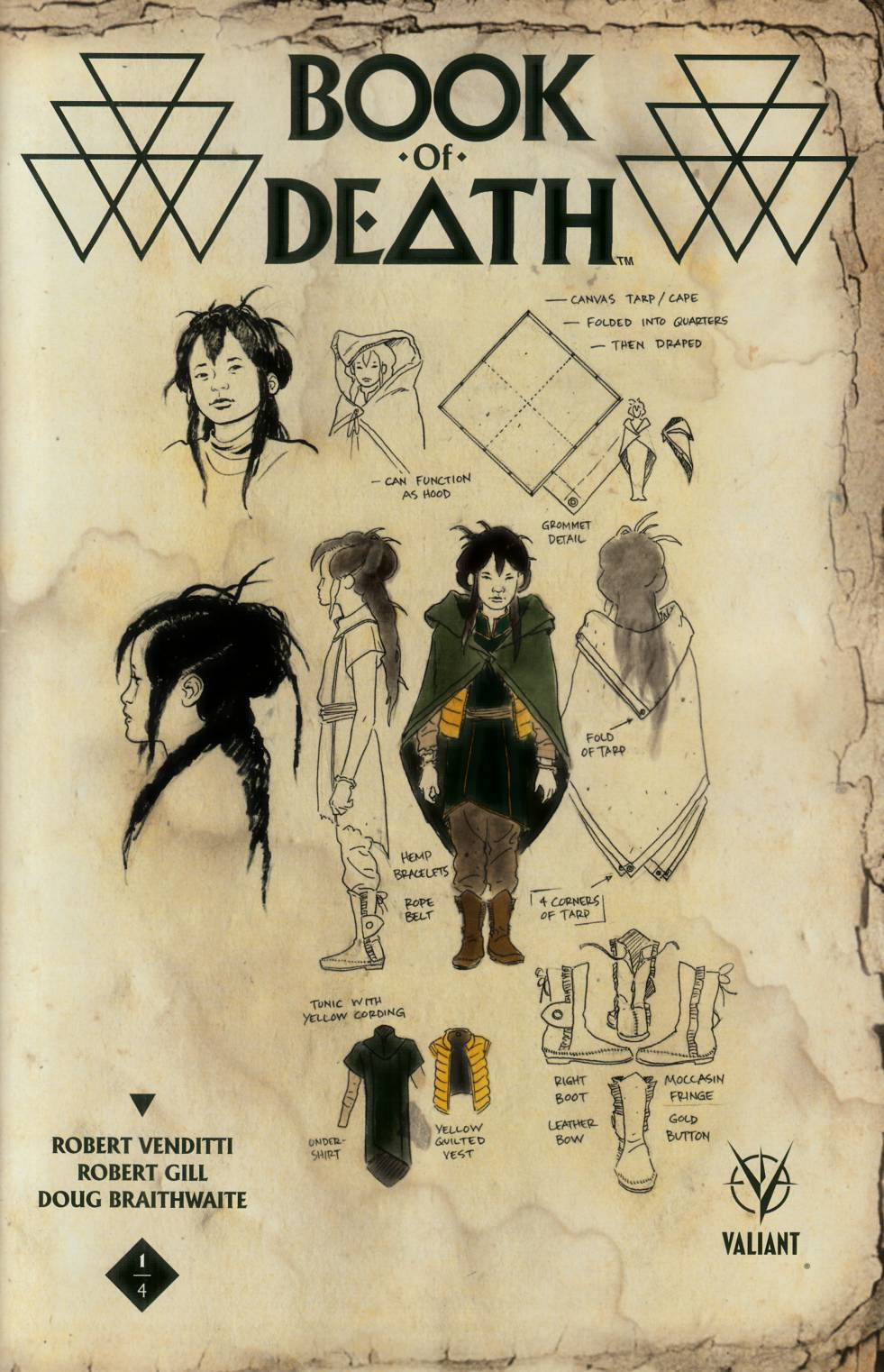 Book of Death #1 Cover F- Rivera Character Design [Valiant Comic] THUMBNAIL