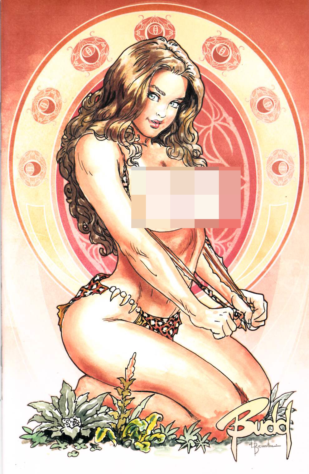 Cavewoman River Styx #1 Cover E- Root Nude [Amryl Comic] THUMBNAIL