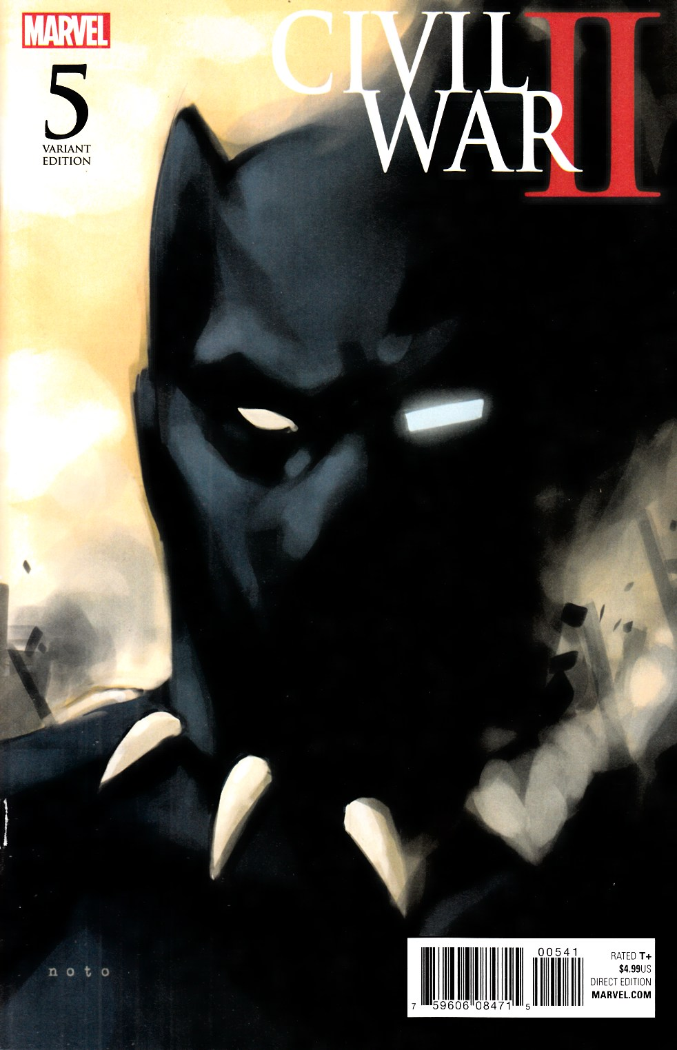 Civil War II #5 Noto Black Panther Variant Cover [Marvel Comic] LARGE