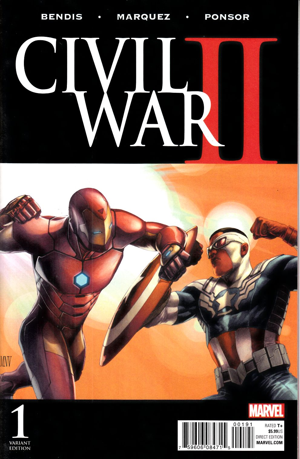 Vault 35 Civil War II #1 Cover M Sketch Variant NM 2016 Marvel Comic